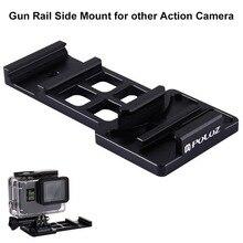 Cantilever Picatinny Weaver Quick Release Gun Rail Mount Side para GoPro HERO 6/5/4/3 +/3/2/1/Sessão/Session5/4 e Câmera de Ação