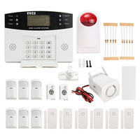 NEW LCD Wireless GSM Autodial For Home House Office Security Burglar Intruder Alarm DC12V 500mA Durable