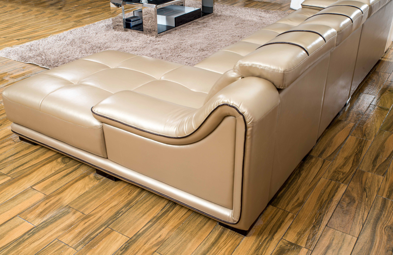 Home Design Living Room Sofa Set, Made with Top Grain real leather ...