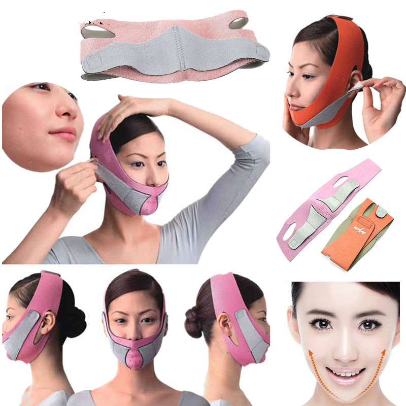 Weight Loss  Face Slimming Massager Mask  Facial Thin Masseter Double Chin Skin Thin Face Bandage Belt Women Face Slimming Patch