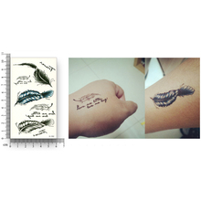 Waterproof Temporary Stickers Water Transfer Fake Tattoo Men Women Couple Body Art Colour Feather Charm Makeup Character