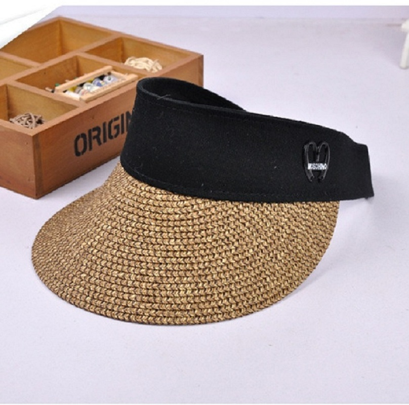 Summer Womens Clip on Straw Sun Visor Wide Brim Empty Top Sun Hat Beach Cap  -in Sun Hats from Apparel Accessories on Aliexpress.com  8685861faf7e