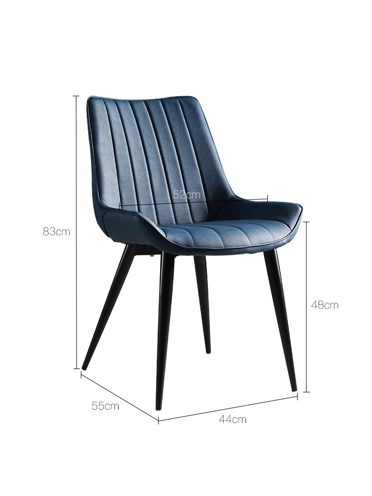 100pcs PACK, Low Profile Dinner Chair With PU Faux Leather Upholstery With Metal Foot