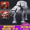 NUEVA Lepin 05050 Estrella de la Serie Guerra AT-AT el Robot Bloques de Construcción de Juguetes de Control Remoto Eléctrico 1137 unids Compatible con 10178