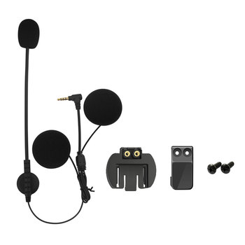 Brand Lexin intercom Headset & Clip Set Accessories for LX-R6 Bluetooth Helmet Interphone Intercom Headphone Jack Plug