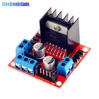 Controlador de Motor paso a paso, módulo de placa L298N para Arduino, canal Dual, puente H Dual, 1 Uds., nuevo