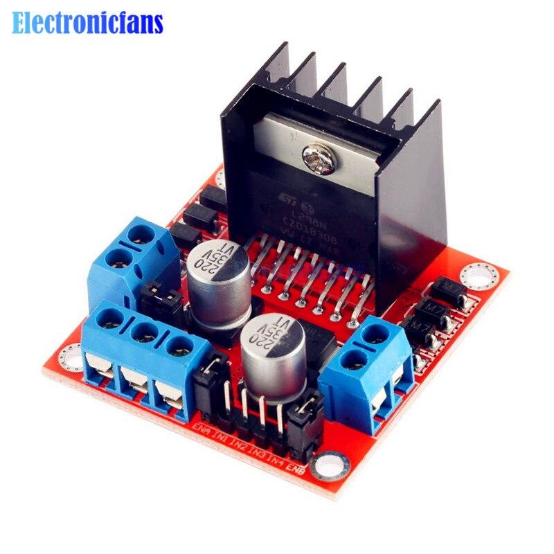 1PCS New Dual H Bridge DC Stepper Motor Driver Controller Board Module L298N For Arduino Dual Channel
