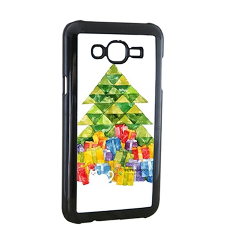samsung galaxy E5 E7 C5 C7 Case üçün xüsusi 2d plastik qara - Cib telefonu aksesuarları və hissələri - Fotoqrafiya 2