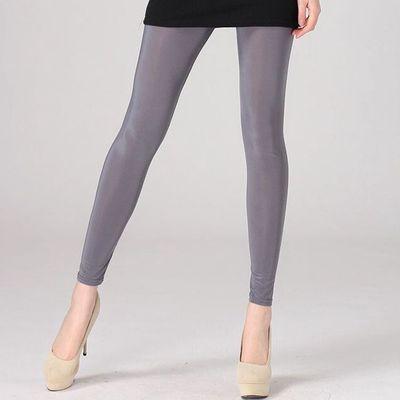 292b69eacd6e Thin milk Elastic fabric Nine points Leggings Summer woman Leggings Ice  silk High elastic Slim Ventilation Leggings