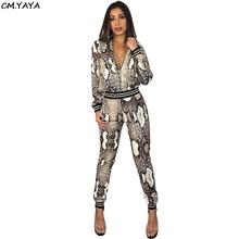 2018 autumn winter long sleeve leopard jackets pencil leggings pants two pieces women s set fashion