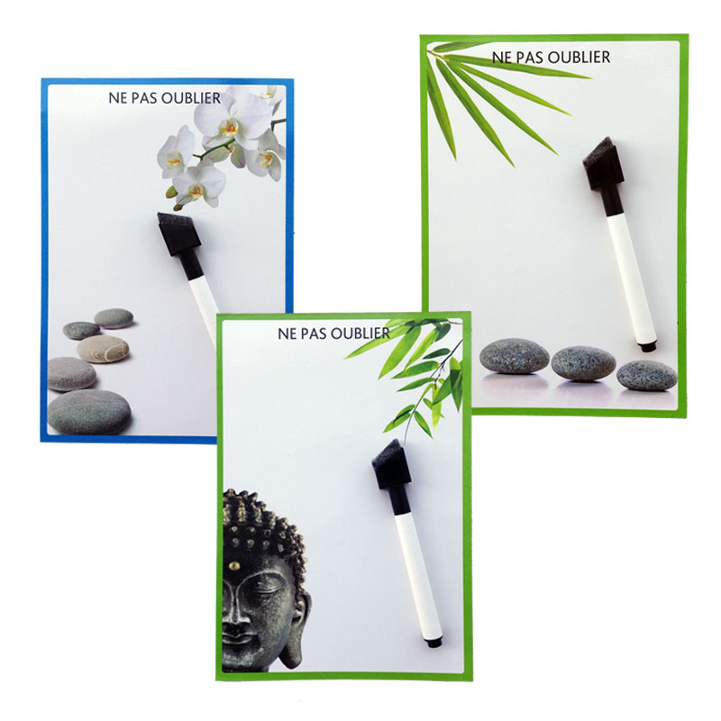 Buddha series printed Dry Erase Flexible Magnetic Whiteboard/Message board/Memo Pad/Dialog Box Magnet
