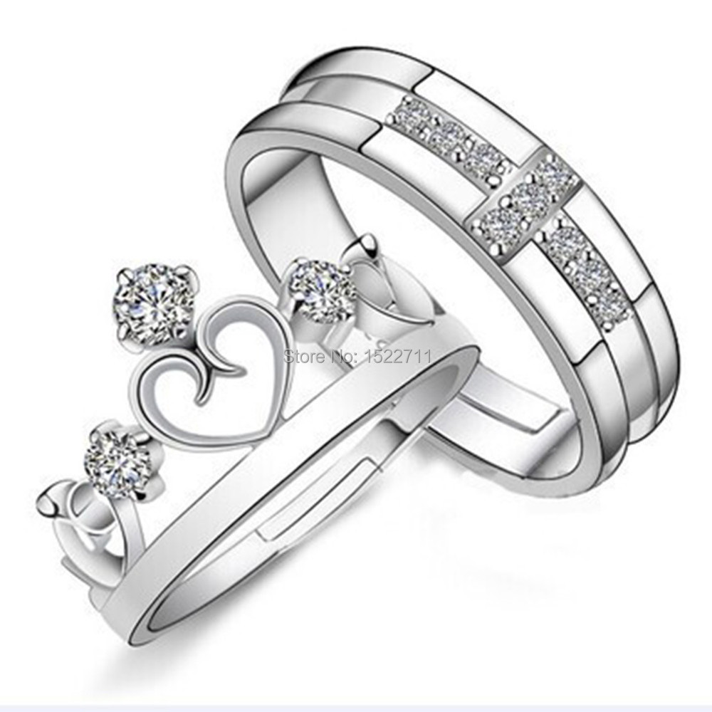 for sparta three couples sterling silver engagement and him her ring matching band promise cubic stones with blue rings