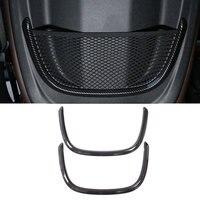 Carbon Fiber For BMW X1 F48 16 18 ABS Chrome Rear Back Net Frame Cover Trim