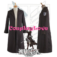 High Quality Stock Japanese Anime Attack on Titan Long Cloak Coat Cosplay Costume For Halloween Christmas CosplayLove