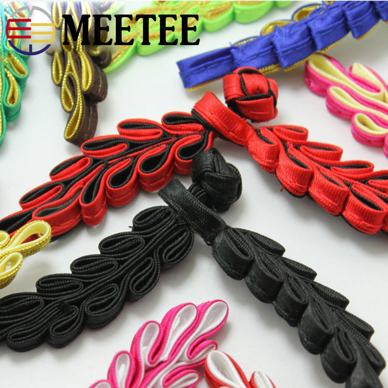 Apparel Sewing & Fabric Amicable 10pcs Meetee 10cm Leaf Closure Knot Buttons For Tang Suit Cheongsam Fastener Sewing Clothing Diy Handmade Craft Accessoriesb5-8
