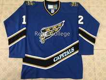 f8b1f0b42 12 Peter Bondra Washington CAPITALS Vintage Starter Men s Hockey jersey  Embroidery Stitched Customize any number and