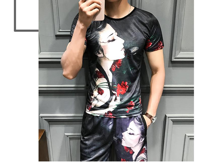Loldeal Summer 3D Beauty Women's Print Set Ice Silk Short Sleeve T Shirt + Shorts Set Men's Print Butterfly Men's Set-in Men's Sets from Men's Clothing on Aliexpress.com   Alibaba Group 9