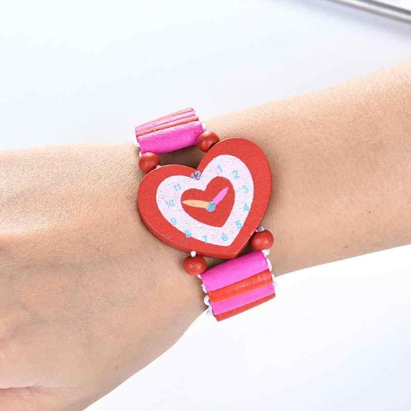 Nuevos niños cumpleaños festival suministro falso reloj de madera baby shower girl boy fiesta favor recuerdo pinata rellenos regalos de navidad