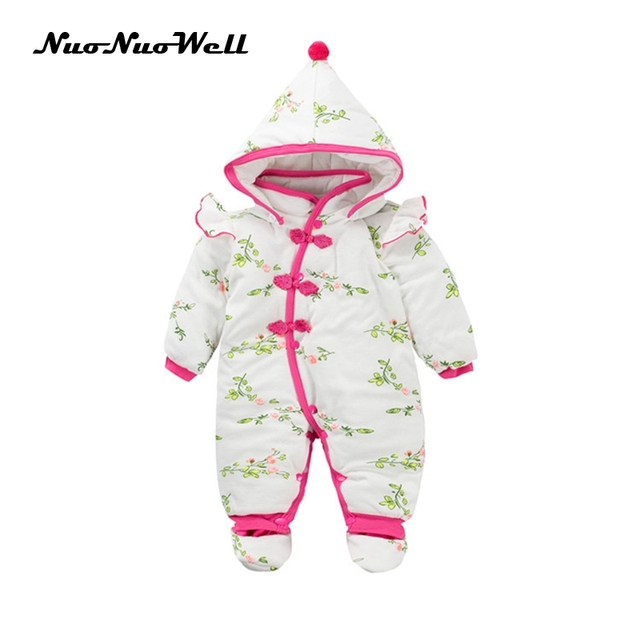 b782d300a NNW Infant Outwear Winter Thick Cute Hooded Baby Rompers Baby ...