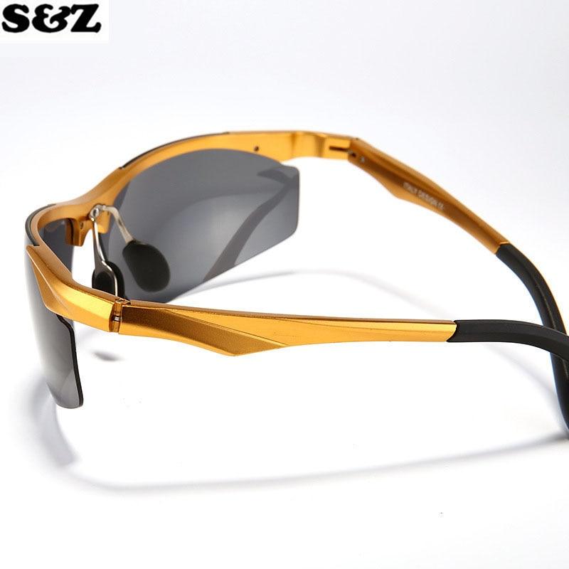 a1f2292172d4ec Vente chaude Ebay Amazon En Aluminium Magnésium lunettes de Soleil  Polarisées Hommes Femmes HD Conduite Miroir Or Métal Lens Lunettes dans  Lunettes de ...