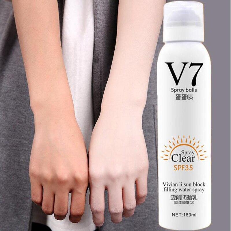 Daralis 180 ml Gesicht Haut Bleaching Sonnenschutz Spray Creme Sonnencreme Körper Lotion Feuchtigkeits Erhellen Hautpflege Make-Up Basis Creme