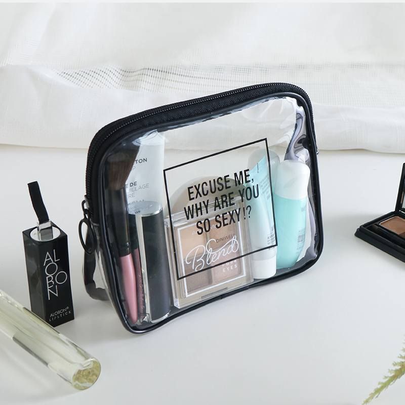 Size S/M Diniwell Transparent Cosmetic Bag Environmental Protection TPU Women Travel Make up Toiletry Bags Makeup Organizer Case diniwell women s women waterproof hanging cosmetic bag men travel portable makeup bag organizer beauty make up toiletry bag
