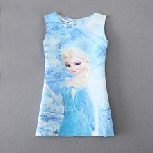 2018 Summer Girls Dresses Snow Queen Anna Elsa Dress for Girls Princess Birthday Costumes Elza Vestidos Kids Girls Clothes