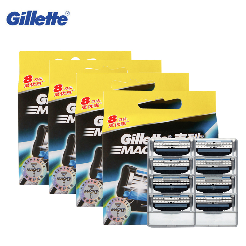 Men Razor Blades Gillette Mach 3 Original Brand Razor Face Hair Beard Removal Manual Shaving Shaver