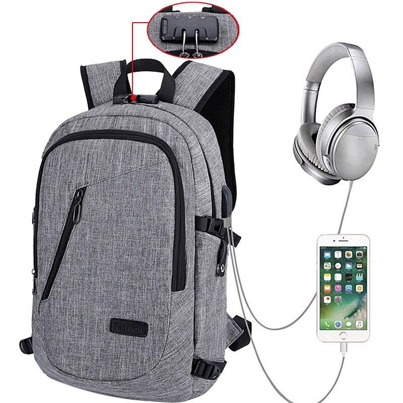 Anti-theft Bagpack Laptop Backpack Women Usb Charging Rucksack Bags Travel Bagpack Female 13-15.6 Inch Mens Laptop Bagpacks