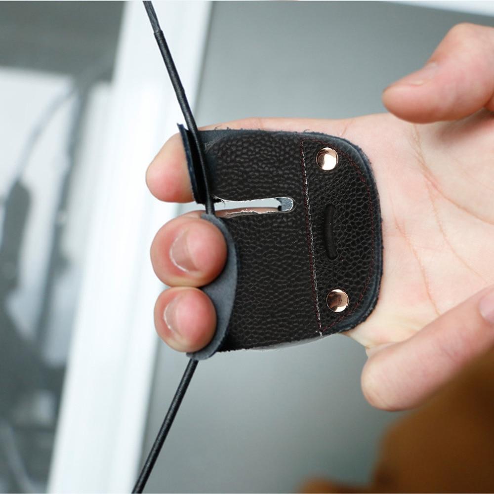 New Archery protetor de dedo Tab Mão Direita Guia De Tiro Em Couro Para Arco Recurvo