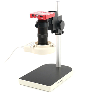 Image 2 - HDMI USB 37MP 1080P 60FPS TF Microscope Camera 100X Zoom Digital Video Recorder 56 LED Ring Light For Phone PCB Solder Repair