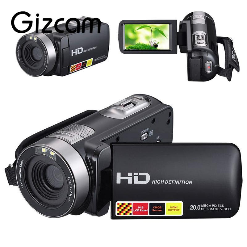Gizcam Night Vision 1080P HD Digital Camera Video Recorder Camcorder 3.0 Inch LCD DV DVR 16x Zoom Camera Gift JPEG for Children