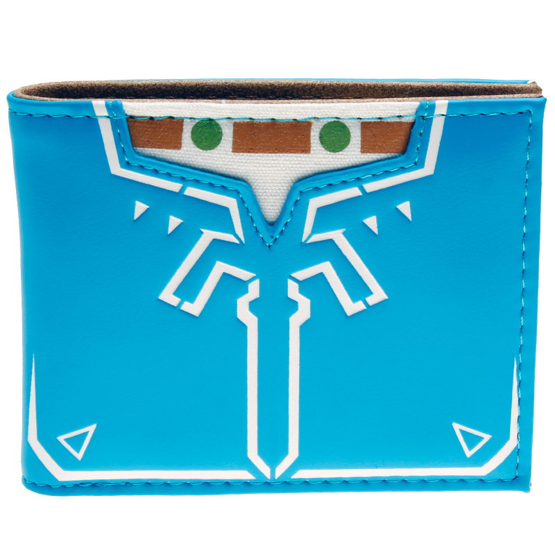 Novelty Legend of Zelda - Breath of the Wild Bi-Fold Wallet DFT-10061 zelda wallet bifold link faux leather dft 1857