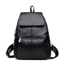 hot deal buy women backpacks fashion causal school travel bags high quality rucksack female shoulder bag pu leather backpacks for girls