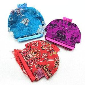 Bolsa de presente para joias, bolsa étnica única para presente de estilo chinês