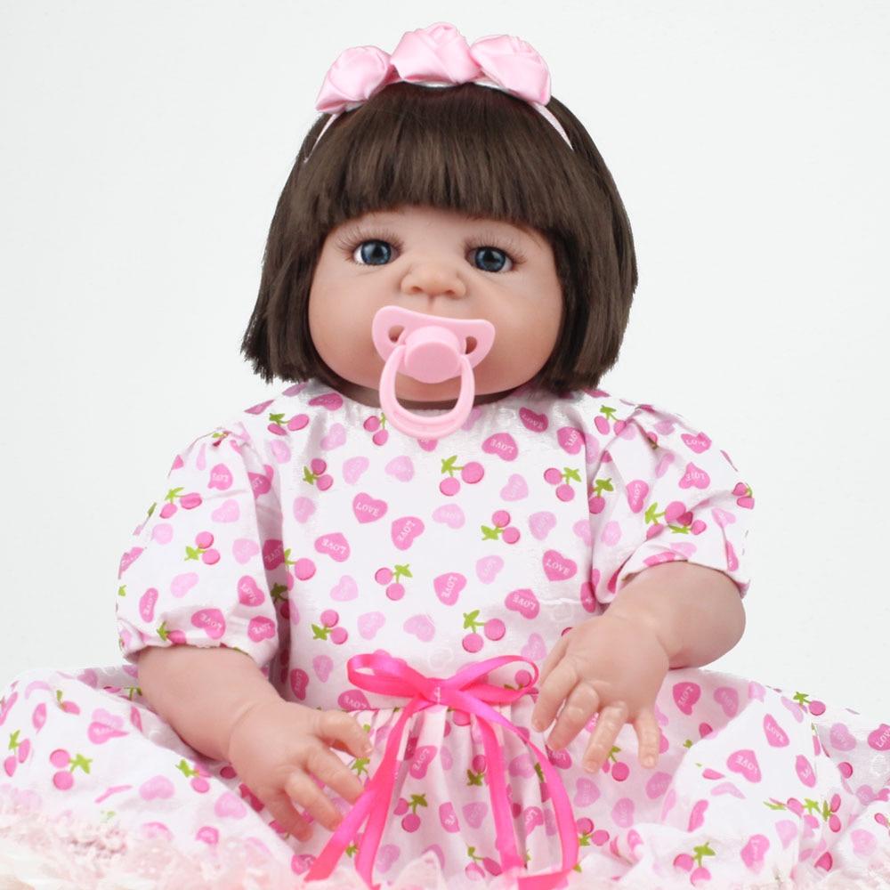 KAYDORA 22 inch 55cm Full Body Silicone Reborn Baby Dolls Alive Lifelike Realistic Bebe Reborn Girl Dress Toys Kids GiftKAYDORA 22 inch 55cm Full Body Silicone Reborn Baby Dolls Alive Lifelike Realistic Bebe Reborn Girl Dress Toys Kids Gift