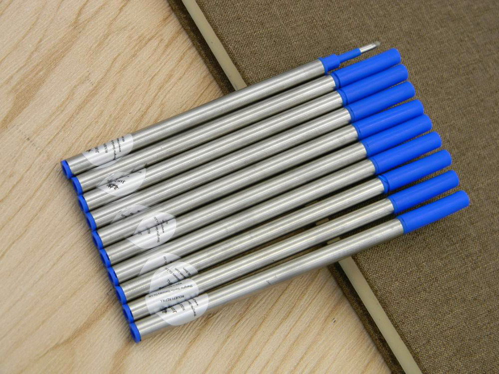 10pcs Jinhao Top Quality Blue Ink Refill For RollerBall Pen