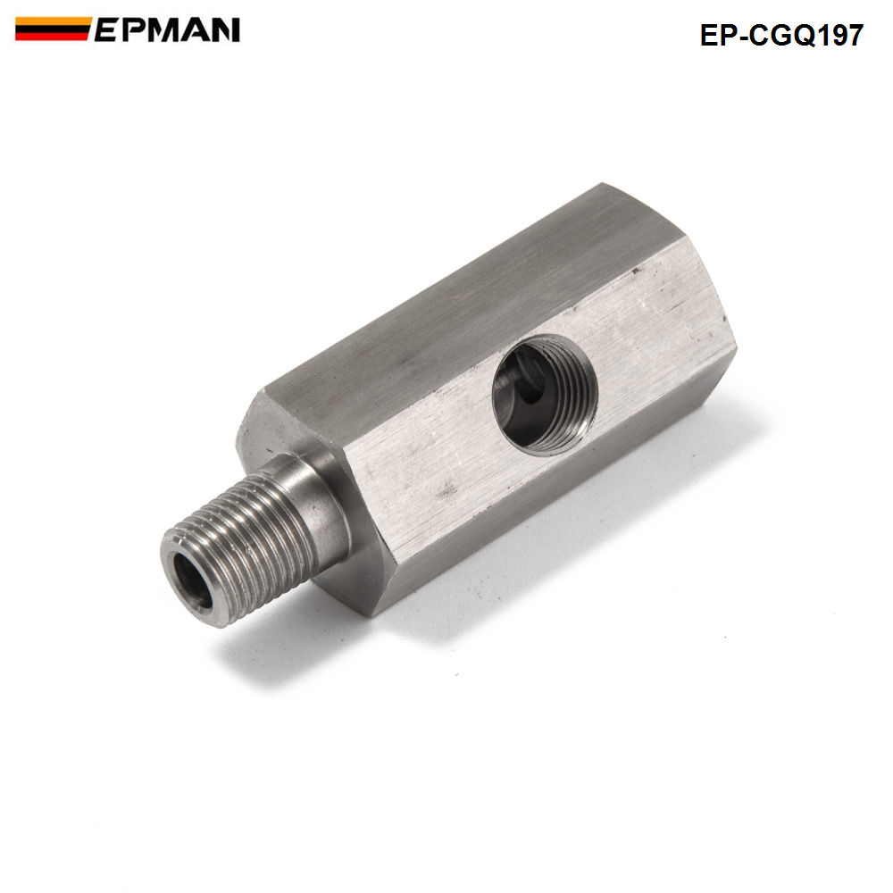 Universal Oil Temperature and Pressure Fitting Gauge Sensor Adapter Black
