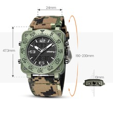 INFANTRY Mens Watches Top Brand Luxury Analog Digital Military Watch Men Square Army Tactical Watches for Men Relogio Masculino