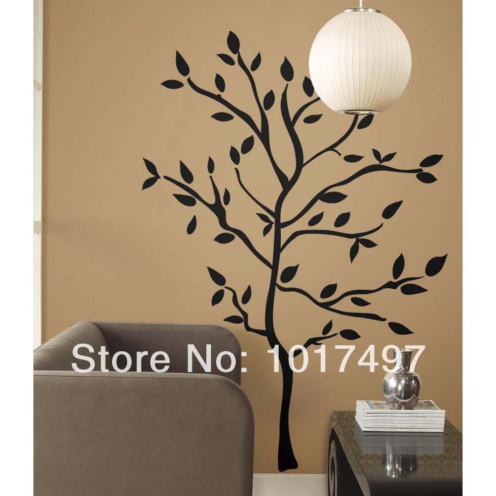 Aliexpress buy free shipping 192cm x 147cm family large tree aliexpress buy free shipping 192cm x 147cm family large tree branches vinyl home decoration wall stickersblack white red tree amipublicfo Choice Image