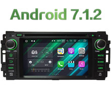 7.1.2 androide 2 GB RAM 4G WIFI Coche DVD Reproductor de Radio para Dodge RAM 1500 2500 3500 Calibre Challenger/Chrysler Sebring 300C Cirrus