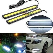 2Pcs 2017 update Ultra Bright LED Daytime Running lights DC 12V 14cm Waterproof Auto Car DRL