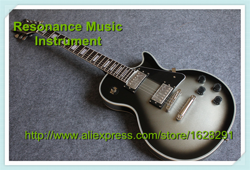 Wholesale and Retal Quality LP Custom Guitar Silver Burst Sparkle Finish China OEM Guitar & Lefty Available china s oem firehawk guitar free shipping wholesale custom shop junior electric guitar