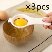 3pcs/lot Plastic Egg Yolk White Separator Eco Friendly PP Food Grade Material 12*4.5 cm Egg Divider Tools