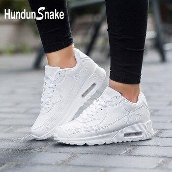 e6c66b222e Zapatillas de deporte de cuero Hundunsnake para mujer