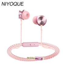 Portable Mini Stereo Bass Hifi Earphone For iPhone 5 6 Samsung S8 Headset Mobile Phone Microphone Wired Outdoors Sport Earphones