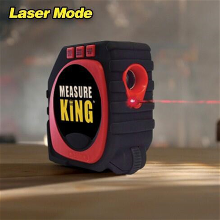 3-in-1 Measure King Digital Tape With Roll Cord Mode Laser Measure Tape High Impact Professional Measuring Tool