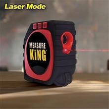3-em-1 meça a fita digital do rei com a ferramenta de medição profissional do alto impacto da fita da medida do laser do modo do cabo do rolo