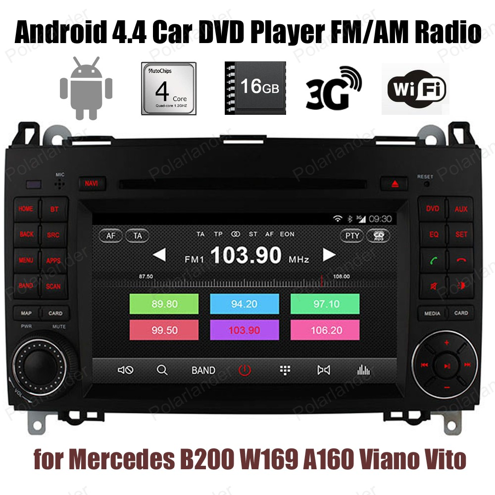 Android4 4 Quad Core For Benz B200 W169 A160 Viano Vito Car CD DVD Support DTV