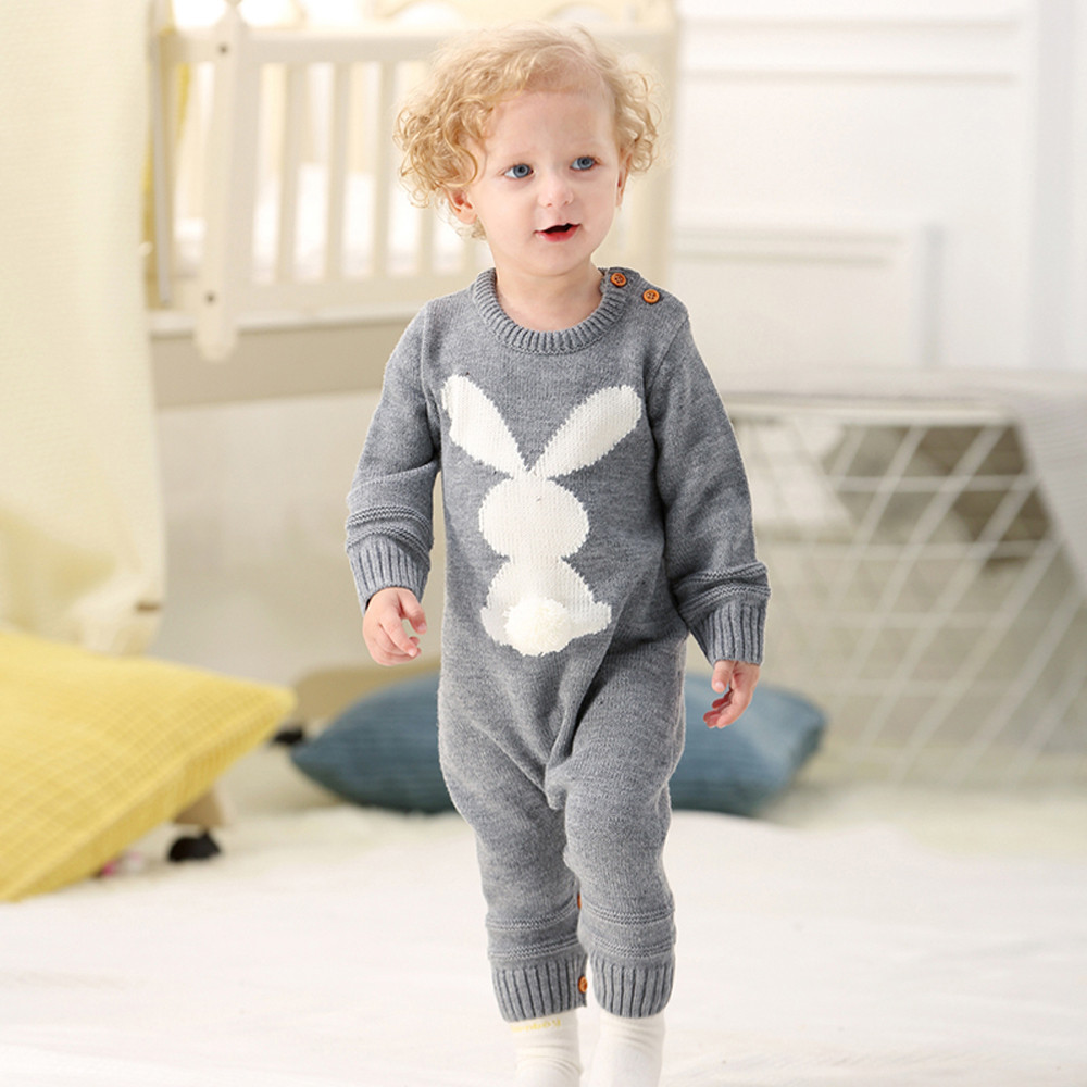 6M-24M Knitted long sleeve Jumpsuit Outfits cute Clothes Newborn Infant Baby Boy Girl Weave Romper kids children's clothing cute newborn infant baby boy girl clothes short sleeve print baby romper receiving blanket headband 3pcs kids clothing set